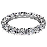 3 Carats Diamonds Platinum Eternity Band Ring