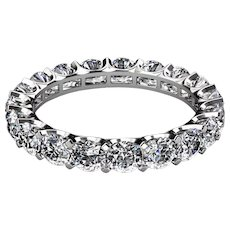 3 Carats Diamonds Platinum Eternity Band Ring