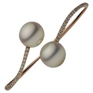 South Sea Pearl Diamond Bangle Bracelet