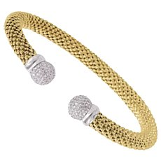 Diamond Meshmerise Allure Ball Bangle