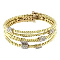Diamond & Gold Studded Goose Bangle