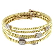 Diamond & Gold Studded Goose Bangle