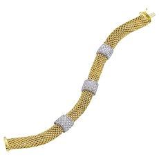 Diamond  Meshmerise Chic 3 Square Bar Bracelet