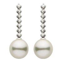 South Sea Pearl Diamond Gold Earring