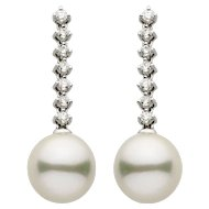 South Sea Pearl Diamond Gold Earring