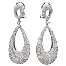 2.90ctw Diamond Basket Dangle Earrings