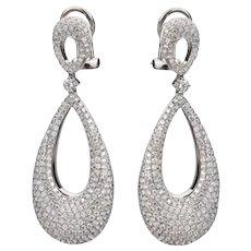 2.90ctw Diamond Basket Dangle Earrings