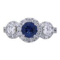 Sapphire and Diamond Ring 1.78 Cts. T/W