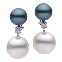 Pearls Diamond Gold Earrings