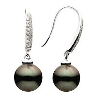 Tahitian Pearl and Diamond Earring