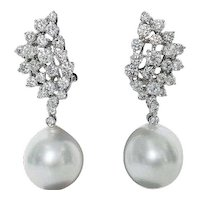 South Sea Diamond Earrings 2.70 Cts.
