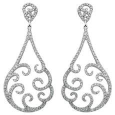 Fancy Teardrop Dangle Earrings