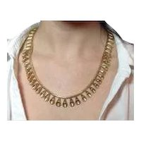 Aletto Brothers Gold Necklace circa 1980