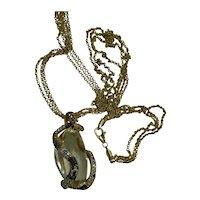 GIA Spodumene Stone Necklace/ Pendant 210.78 cts.