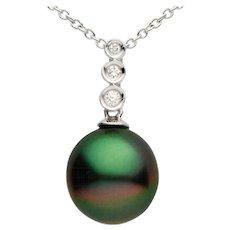 Tahitian Pearl Diamond Gold Pendant