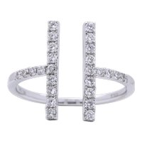Diamond Bar Fashion Ring