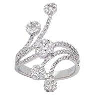 Floral Decor Diamond Ring