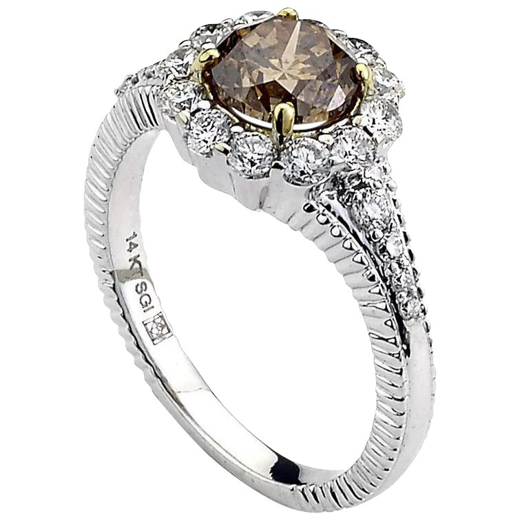 natural rough brown diamond ring harbor diamonds rubylux
