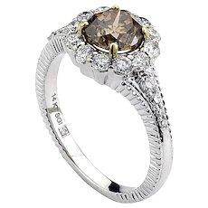 Natural Rough Brown Diamond Ring