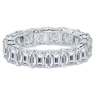 Asscher Cut Diamond Platinum Eternity Band 6.59 Cts. T/w by Prince Diamond