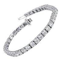 10.00 Carat Diamond Eternity Bracelet