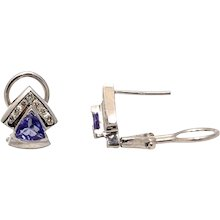 2.50 CTW Tanzanite Diamond Earrings
