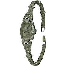 Tiffany & Co. Lady's platinum Diamond Wristwatch circa 1930