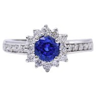 Ceylon Sapphire and Diamonds Ring
