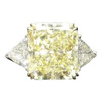Fancy Yellow Canary Color  13.02 Carat Diamond Ring