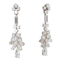1950's Diamond Platinum Earrings