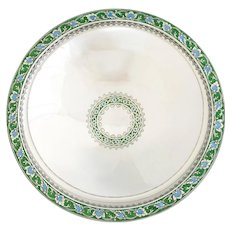 Tiffany & Co Art Deco Sterling Silver & Enamel Centerpiece Bowl 1920