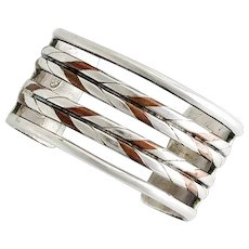 William Spratling Copper Sterling Silver Cuff Bracelet