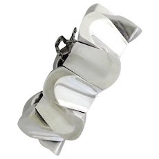 Antonio Pineda .970 Silver Thumbprint Bracelet