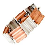 Antonio Pineda Copper .970 Silver Wafer Link Bracelet