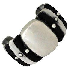 William Spratling Large Rosewood Sterling Silver Cuff Bracelet