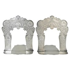 Tiffany & Co. Sterling Silver Pair of Bookends, 1905