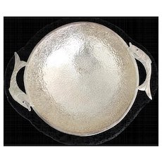 Emilia Castillo Silverplate & Lava Rock Fish Motif Bowl