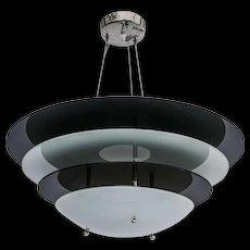 Gino Sarfatti for Arteluce Glass Chandelier