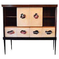 Osvaldo Borsani rosewood and boxwood cabinet