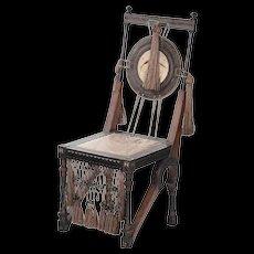 Carlo Bugatti Copper-Inlaid Chair