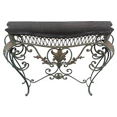 Wrought Iron Console in the Manner of Poillerat