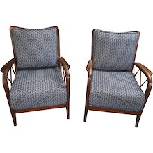 Pair of Paolo Buffa Armchairs