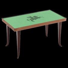 Luigi Brusotti Green Glass-Top Coffee Table