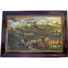 Tyrolean Folk Art Painting 1860