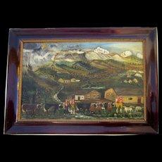 Tyrolean Folk Art Painting 1860