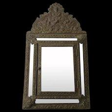 Belguim Repousse Mirror Key Safe Door