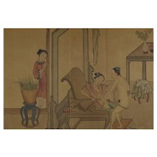 Chinese Album Book of Eight Erotic Paintings