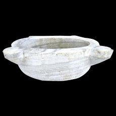Wonderful Vintage White Marble Sink