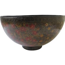 Very Large Kashmiri Lacquered PAPIER-MÂCHÉ Bowl