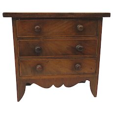 English Mahogany Miniature Chest of Drawers c 1820